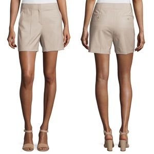 Theory Masibeth Continuous Wool Blend Shorts 4